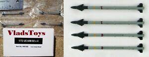 Hobby Master 1/72 Scale 4Piece AIM-9X Sidewinder Missile Set HW1008