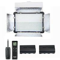 Godox LED500LRC Camera Video Light Lamp 3300-5600K + 2x 2200mAh Batteries Kit