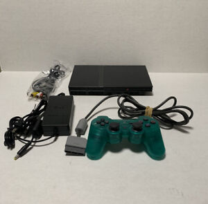 Sony PlayStation 2 PS2 Slim Black w/Cords & Controller - Tested Working