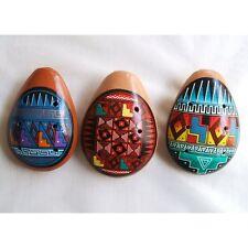 #559 Inca Ocarina Three Pack Assorted Peru Fair Trade Artisan Made Whistle Flute