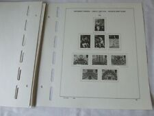 SCHAUBEK GREAT BRITAIN 1970-80 ILLUSTRATED 2-PEG STAMP ALBUM PAGES, VGC
