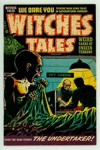 WITCHES TALES #24 FN 6.0 LEE ELIAS GHOUL COVER POWELL PRE-CODE HORROR COMIC 1954