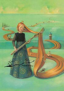 Postkarte: Henriette Sauvant - Rapunzel / Märchen