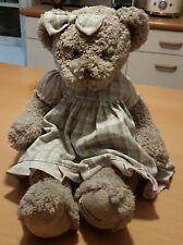 Peluche Louise MANSEN ourse à robe à carreaux (43 cm)