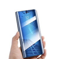 Flip Mirror Phone Case Clear View Cover For Samsung Galaxy S9 S8 S7 S6 Edge Plus
