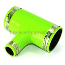 Green Silicone T Piece Hose (25mm BOV Branch) SELECT SIZE / CLAMPS