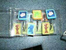 NIP Disney Pixar Toy Story Square 12 pcs Shower Curtain Hooks Childrens Bathroom