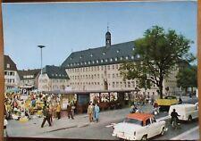 Opel-Stadt Rüsselsheim 1963 Markt Rathaus Goliath Goli Dreirad Oldtimer Auto LKW