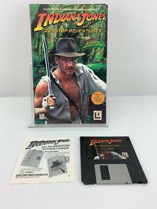 Vntg Indiana Jones Desktop Adventures PC Windows 95/3.1 Video Game 3.5 Floppy