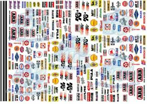 Race Pack 4 | Waterslide decals & racing livery for all popular scale model cars