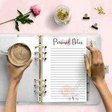 Notas personales A5 Imprimible planificador de recarga agenda Insertos de descarga digital
