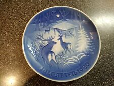 Royal Copenhagen Christmas plate 1980 Christmas in the Woods