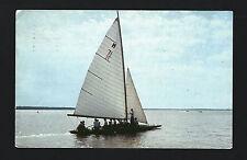 Clear Lake Iowa IA 1957 Sail Boat X M 13 People on Ride Across the Lake, Sailing