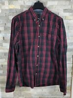 Fat Face Mens Size M Classic Fit Red Checked Long Sleeve Shirt
