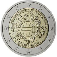 2 Euros Commémorative Allemagne 2012 - 10 Years Euro - UNC