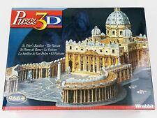 St. Peter's Basilica 3D Puzzle 966 Pieces Jigsaw Vatican Wrebbit  Hasbro #04545