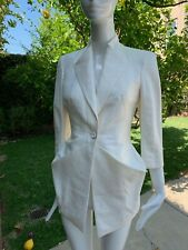 2009 ALEXANDER MCQUEEN IVORY STRUCTURED JACKET! A MASTERPIECE!