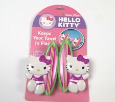 New! HELLO KITTY Towel Clips for Beach or Pool Towels - 1 set of 2 pcs.