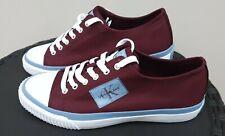 CALVIN KLEIN JEANS IZICEIO Low Top Sneakers/Trainers Dark Burgundy UKSize 10 NEW