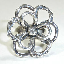 Silpada R2784 Flower Power .925 Sterling Silver Ring Size 7 Large