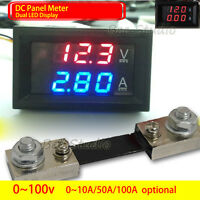 DC 12v 24v Digital LED Display Voltmeter Ammeter Meter Panel Voltage Current