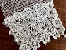 More details for antique victorian cream lace cuffs on tulle net sleeves engageantes