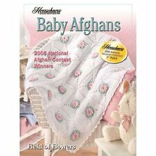 New Herrschners Baby Afghans 2008 Crochet Award Winners Pattern Book Flowers