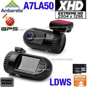 Dash camera 0805 Ambarella 16GB Blackbox A7 GPS 1296P In Car Camera Backup Crash