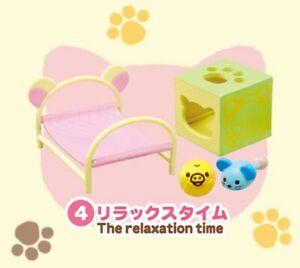 Rilakkuma Re-ment Cat Cafe Relaxation Time Cute Miniature San-x Japan Kawaii New
