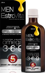 EstroVita MEN 250 ml with OMEGA-3-6-9 FOR MEN, UNIQUE OMEGA 5! FREE P&P