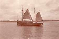 DL140 Photographie photo vintage snapshot bateau voilier voile sailing