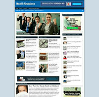 WEALTH ABUNDANCE AFFILIATE WEBSITE WITH STORE + NEW DOMAIN & HOSTING