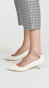 NIB Tory Burch Elizabeth Pump Leather Perfect Ivory Size 8.5, 9 $278