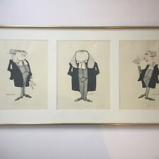G.R. Cheesebrough Lawyer Lithographs Signed Numbered Framed Three Prints
