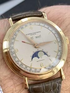 Gents Vacheron Constantin 18ct Triple Calendar Automatic Watch Ex Condition