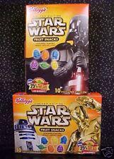 *STAR WARS*FRUIT SNACKS*LTD ED*R2-D2*C-3PO*YODA*VADER*
