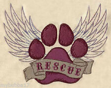 DOG RESCUE UNIQUE SET OF 2 HAND TOWELS EMBROIDERED RARE FIND