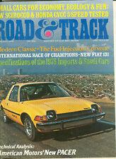 Road & Track Feb 1975 - AMC Pacer - Fiat 131 Mirafiore  - Volkswagen Scirocco