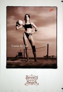 Gabrielle Reece Beauty and the Beach Volleyball  Nike Poster Rare oop