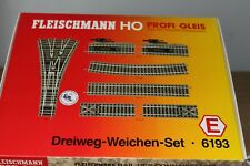 Fleischmann HO Drieweg wissel-set 6193 nieuw in originele verpakking