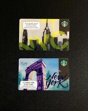 USA 🇺🇸  STARBUCKS NEW YORK CITY GIFT CARD --- LOT OF 2 PCS. --- NEW