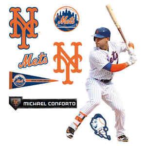 Fathead TEAMMATE MICHAEL CONFORTO 12X16 INC NINE DECALS SEALED NEW YORK METS