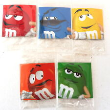 * M&M'S LOT DE 5 MAGNETS NEUF 5 cm x 5 cm NEUF SOUS BISTER 2012