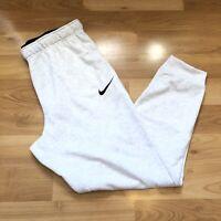 Nike Men Dri fit Jogger Sweat Pants Heather Grey White 860371 051 Size L
