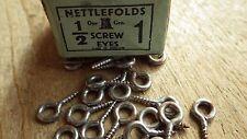 20 Vintage NOS Gkn NETTLEFOLDS Winzig Schraube Augen 1.3cm x 1 Eigenfarbe Draht