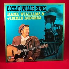 Boxcar Willie Sings Hank Williams & Jimmy RODGERS Vinyl LP EXCELLENT état