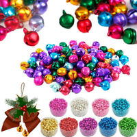 Colorful Christmas Jingle Bells Kid DIY Bracelet Loose Beads Charms Xmas Decor-R