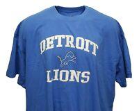 Detroit Lions NFL Majestic Sky Blue T-Shirt w/ Team Name & Logo, Big & Tall, nwt
