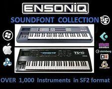 ENSONIQ SOUNDFONT SF2 Samples: 1,000 Ensoniq ASR EPS TS-10 Instruments