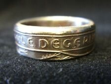 Handmade Guernsey coin ring - size U (US 10 1/4), (R1406)